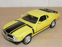 ERTL Coche FORD MUSTANG 1970 Boss 302 1:18 scale 1/18 diecast yellow black color