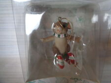 """Charming Tails """"Sweetie Skier"""" Fitz & Floyd Christmas Ornament"""