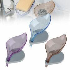 Leaf Shape Soap Dish Box Storge Plate Bathroom Kitchen Case Holder Container