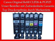 6X Canon Original MG6150 MG8150 MX885 mit CLI-526GY