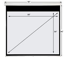"""Maxstar 84""""x84"""" e-z Pull Down Manual Projector Screen 1:1 Format Matte White"""