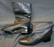 MARKON Super Supple BLACK LEATHER MID-CALF BOOTS Low Heel RIDING STYLE sz 10 B