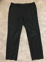 Hugo Boss Mens Size 42R 100% Virgin Wool Dress Pants Trousers Black 42R
