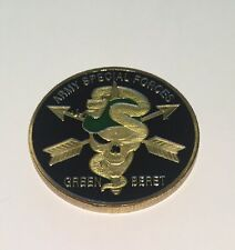 ARMY SPECIAL FORCES GREEN BERET CHALLENGE COIN J15
