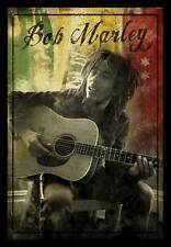 REGGAE MUSIC POSTER Bob Marley Guitar Sitting