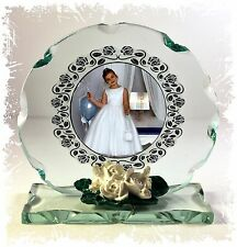 First Holy Communion Own Photo Cut Glass Plaque Gift Personalised Keepsake #4