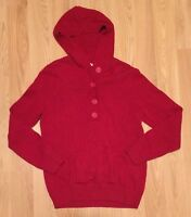 Eight Eight Eight Womens Red Hoodie 100% Cotton Sweater SZ L J13