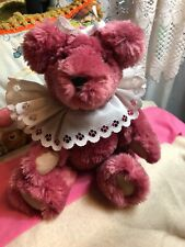 Artist Teddy Bear Plush 11in by Deanna's Den Fully Jointed Weighted Ooak