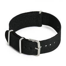 Retro 18/20/22mm Canvas Nylon Fiber Wrist Watch Strap Watch Band Belt Clasp new