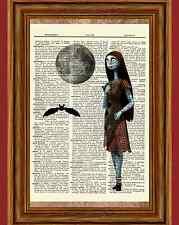 Sally Dictionary Art Print Poster Nightmare before Christmas Jack Skellington