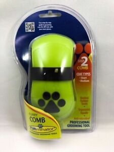 FURminator Anti-Microbial Curry Comb Grooming Pet Brush Removes Dust Loose Hair