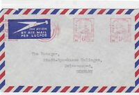 south africa airmail machine cancel stamp cover  Ref 10056