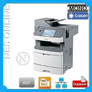 Lexmark X464de 4-in-1 38PPM Mono Laser Printer+Duplexer FREE UPGRADE to X466de