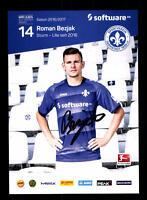 Roman Bezjak Autogrammkarte Darmstadt 98 2016-17 Original Signiert+A 150902