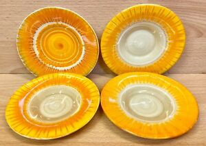 Shelley Regent Shape Harmony Artware Pattern Four Coffee Cup Saucers.