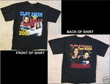 Clay Aiken Kelly Clarkson Tour 2004 Black T-Shirt