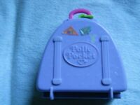 Polly Pocket Ski Lodge Purple Suitcase & Slide Compact Only 1996 No Dolls