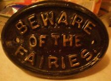 Latex Craft Mould Beware of the Fairies Garden Plaque Art & Crafts Hobby
