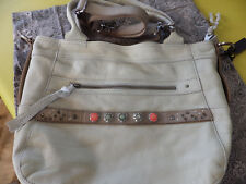 Noosa Amsterdam leather Classic shopper bag light grey mint blue