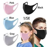 Children Kids Adults Face Mask Mouth Protection Covers Washable Reusable Unisex