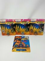 Vintage 90's Micro Machines Galoob MoC ZBOTS - Robot Figures New Sealed Lot of 4