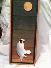Art, vintage,raised wooden dimensional,Mark Russell,signed/dated