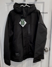 NWT Hollister Men All Weather Collection Fleece Lined Full Zip Jacket Black S