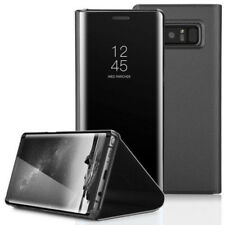Clear View Mirror Leather Flip Stand Case Cover For Samsung Galaxy Note 8