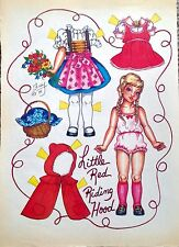 Little Red Riding Hood Paper Doll by Pat Frey 1982 National Doll World Mag.
