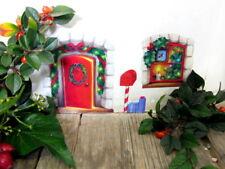 Puerta de Navidad Fantasía Pared Pegatina/Calcomanía-Elfos Taller Elfo Casa Adviento