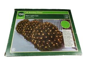 Holiday Time 150 Clear LED Net Christmas Lights Lighted Area  6 FT X 4 FT 🎄☃️