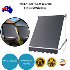 Instahut 1.5m x 2.1m Fixed Awning Window Privacy Screen Canopy Retractable Steel