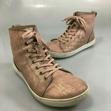 Birkenstock Womens 8 US 39EU Pink Metallic Leather Ankle Boots Lace-Up