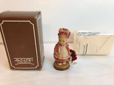 """Anri Sarah Kay """"Off To School"""" Hand Carved Wood 4"""" Figurine Le Italy g47"""