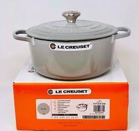 Le Creuset Signature Cast Iron 5 1/2-Qt Round Dutch Oven, Mist Gray