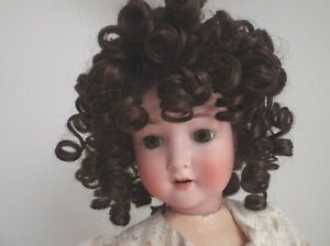 15 INCH DARK BROWN ALL OVER CURLY DOLLS WIG CANDY