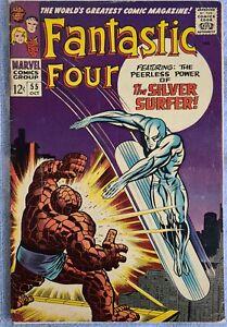Fantastic Four # 55, Silver Surfer, Silver Age Superhero Key 1966, NOT GRADED
