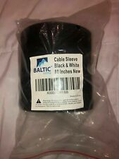 """Baltic Living Cable Management Sleeve 80"""" long Black & White"""