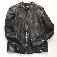 TIGHA Herren Biker Lederjacke Fraser Black Schwarz Sheep Leather Gr. L UVP: 299€