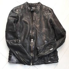 TIGHA Herren Biker Lederjacke Fraser Black Schwarz Sheep Leather Gr. XXL