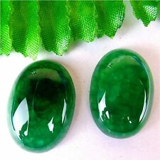 2 Pcs Unique Nice Green Dragon Veins Agate Oval Cab Cabochon 25*18*7mm AQ62697