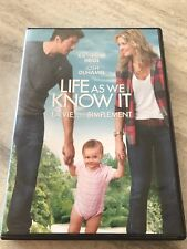 Life as we know it DVD Bilangual Josh Duhamel Good Condition