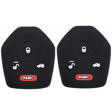 A Pair Black Silicone Keyless Remote Key Fob Case Skin Covers fit for Subaru
