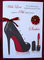 Personalised Handmade Birthday Card - Shoes 18th, 21st, 30th, 40th, 50th 1574RP