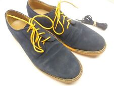 Cole Haan Blue Suede Derby Shoes Mens 10 M C12162 Blue & Orange Laces included