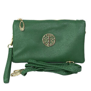 Womens designer small wristlet and cross body shoulder bag with adjustable Strap