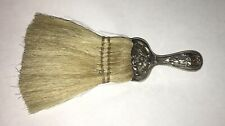 """ANTIQUE ORNATE REPOUSSE STERLING SILVER HANDLE  6"""" UTILITY BRUSH"""