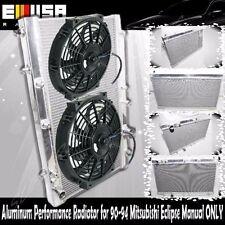 "2"" 2 Row Aluminum Performance Radiator+12"" Fans for 90-94 Eclipse Talon Manual"