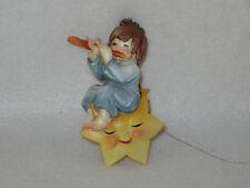 "Vintage ""Cherub Playing Flute On Sleepy Star"" Anri Ferrandiz 4"" Toriart Ornament"