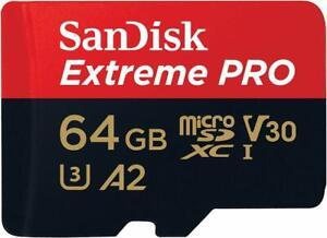 SanDisk Extreme Pro micro SDXC 64GB Class 10 UHS-I U3 V30 170MB/s A2 OC